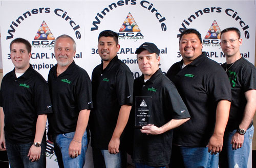 'Team McDermott': (left to right) Kyle Boers, Ron Crom, Ricardo 'Rico' Torres, Victor Martinez, Richard Rocha and McDermott representative Jayme Cernicka.