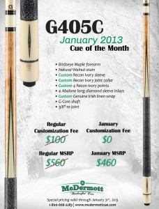 January 2013 Cue of the Month