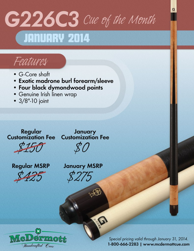 January 2014 Custom Cue of the Month