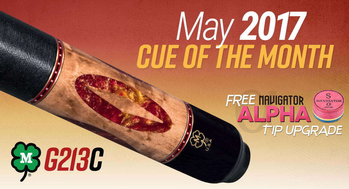 G213C May 2017 Cue of the Month