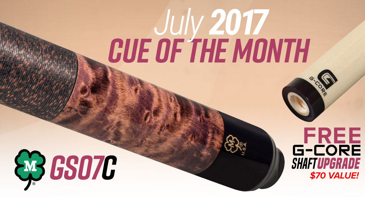 July 2017 Cue of the Month