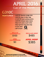 April Cue of the Month