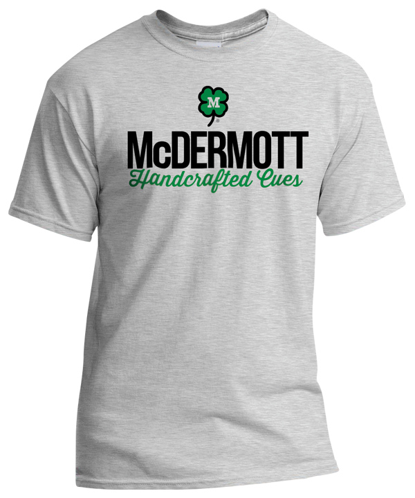 Handcrafted Cues T Shirt 90 5000 2 Mcdermott Cue Apparel