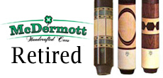 McDermott Retired Pool Cues