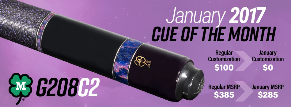 January 2017 Cue of the Month