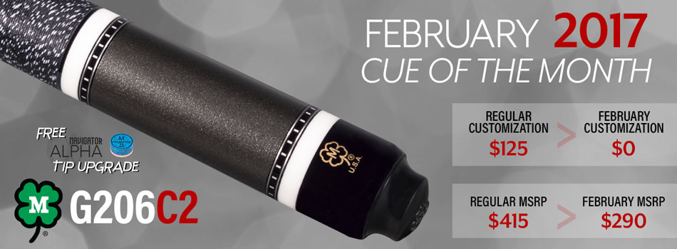 February 2017 Cue of the Month