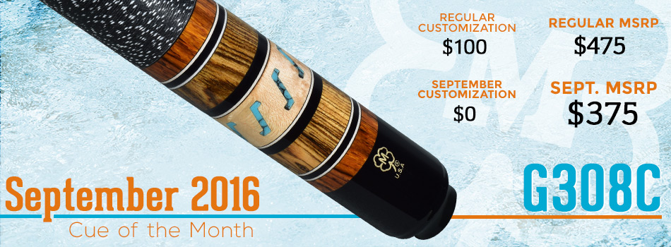 September 2016 Cue of the Month