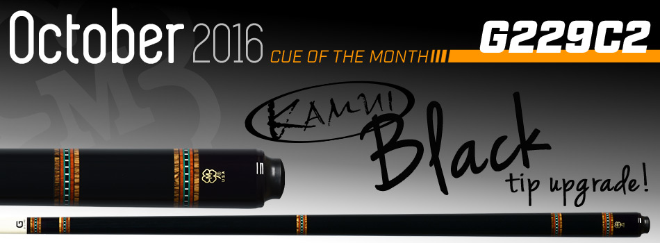October 2016 Cue of the Month