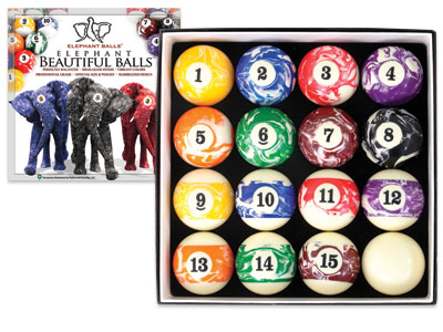 Elephant Beautiful Balls Billiard Set