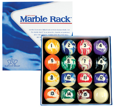 Elephant Balls Marble Rack Billiard Set