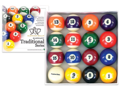 Elephant Traditional Billiard Balls Set