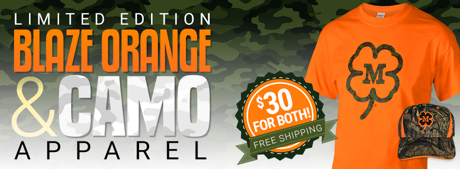 McDermott Blaze Orange and Camo Apparel