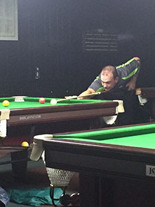 James Brennan competing in Chinese 8-ball