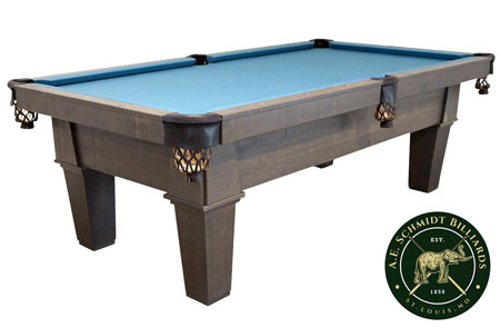 a.e. schmidt rustic cradinal classic pool table